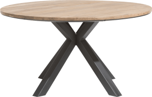 table rond 150 cm chene massif + mdf