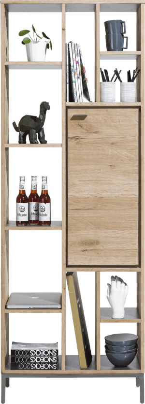 bookcase 70 cm - 1-door + 11-niches