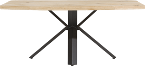 dining table 190 x 100 cm - wood - star leg