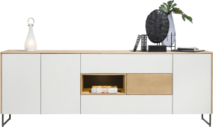 sideboard 240 cm - 3-doors + 3-drawers + 1-niche (+ led)