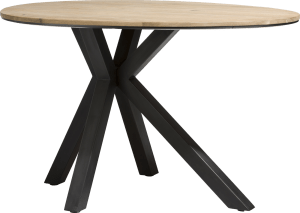 table de bar ovale rond 150 x 110 cm - chene massif + mdf