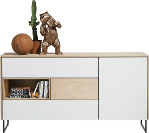 dressoir 1-deur + 3-laden + 1-niche - 160 cm (+ led)