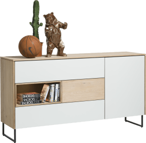 dressoir 160 cm - 1-deur + 3-laden + 1-niche (+ led)