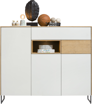 highboard 160 cm - 3-tueren + 2-laden + 1-nische (+ led)