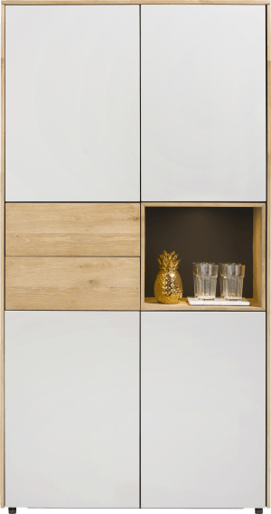 cabinet 100 cm - 4-doors + 2-drawers + 1-niche (+ led)