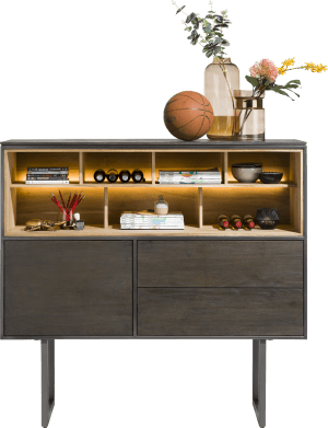 dressette 140 cm - 1-door + 2-drawers + 7-niches (+ led)