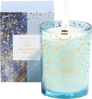 scented candle sapphire lotus