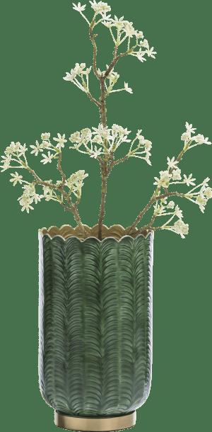 vaas agata - aluminium - groen