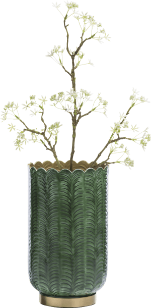 vase agata - aluminium - green