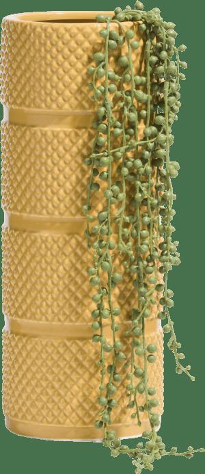 vase lucy medium - gelb