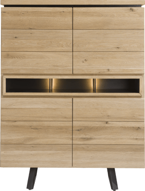 highboard 110 cm - 4-deuren + 3-niches (+ led)