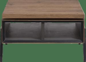 salontafel 70 x 70 cm + draaibare top - 2-niches