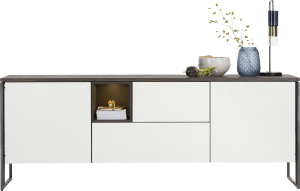 sideboard 230 cm - 2-doors + 2-drawers + 1-niche (+ led)