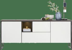 dressoir 190 cm - 2-deuren + 2-laden + 1-niche  (+ led)