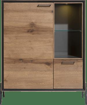 highboard 115 cm - 1-deur + 1-lade + 2-niches ( +led)
