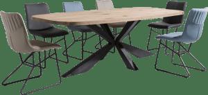 eetkamerstoel - zwart frame - combi tatra / miami