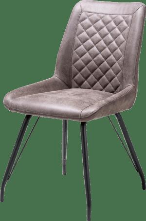 chaise 4-pieds noir + poignee - tissu rocky