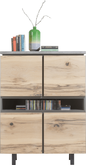 highboard 110 cm - 4-deuren + 3-niches - (+ led)
