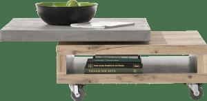 salontafel 80 x 80 cm + 1-niche + draaibare top