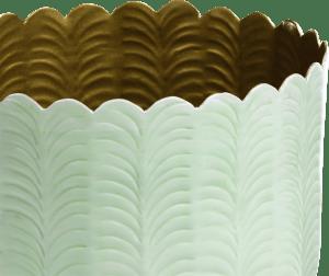 schaal agata - aluminium - mint