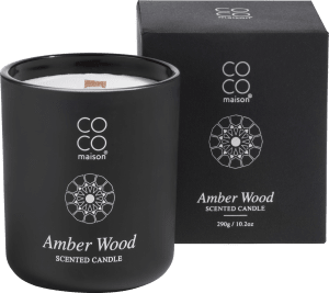scented candle big amber wood