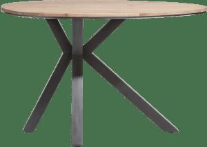 table de bar ovale 150 x 110 cm - kikar massif + mdf
