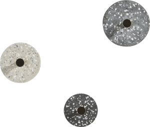 wall hook terrazzo - set off 3 - anthracite / grey / beige