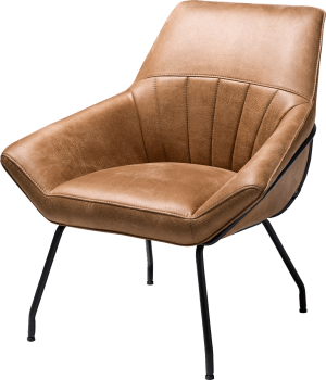 lounge - frame off black - stof rocky