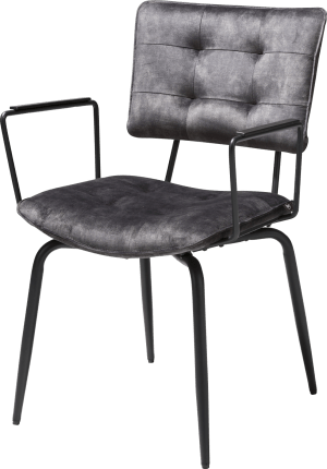 fauteuil - off black - tissu karese