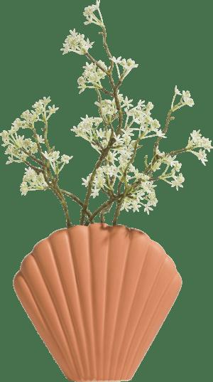 vase shell large - orange