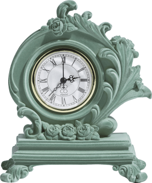 table clock barok - height 21 cm