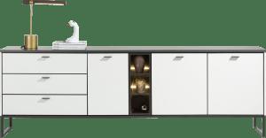 sideboard 240 cm - 3-tueren + 3-laden + 1-nische (+ led)