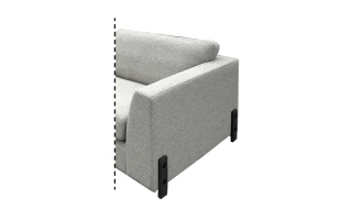 Fuesse Design  H25 Cm Mat Schwarz