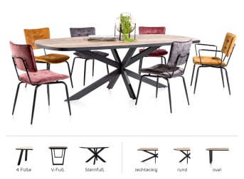 Stellen Sie Ihren Tisch zusammen
