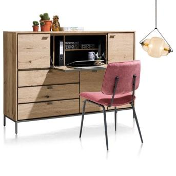 Deux en un : armoire et bureau