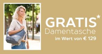 Gratis lederne Damentasche im Wert von €129