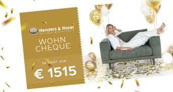 Gewinne einen Wohncheque im Wert von €1515!