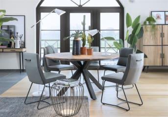 """Wandtafel """"KINNA"""" kan zowel als sidetable of als bureau gebruikt worden, wat hem extra praktisch maakt! De tafel bevat twee lades."""