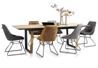 Esszimmerstühle in Top-Qualität! Der robuste Esstischstuhl AIDEN mit schwarzem Drahtgestell ist die perfekte Wahl, wenn du moderne Esszimmerstühle suchst! Die Esszimmerstühle sind in einer großen farblichen Vielfalt vorhanden, sodass du dich hier richtig austoben kannst: Wenn du magst, kannst du jeden einzelnen Esstischstuhl in einer anderen Farbe erwerben! Beim Bezug hast du Wahl zwischen Kunstleder und feinem Stoff, damit die Esszimmerstühle auch wirklich in dein eigenes Esszimmer passen!  Was gibt es heute bei dir zum Abendessen? Die richtigen Esszimmerstühle lassen deine Mahlzeit gleich doppelt lecker werden! Hast du selber gekocht oder etwas bestellt? Eines ist sicher: Mit dem Esstischstuhl AIDEN hast du sowohl für deine Familie, als auch für dich selbst für den größtmöglichen Sitzkomfort gesorgt!