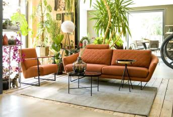 """Fauteuil """"BUENO"""" is een fijne, compacte fauteuil die een heleboel comfort biedt. """"BUENO"""" heeft slanke stalen armleuningen die zich doortrekken tot in het stoere onderstel. Zo vormt fauteuil """"BUENO"""" een modern en industrieel geheel. """"BUENO"""" is verkrijgbaar in verschillende kleuren."""