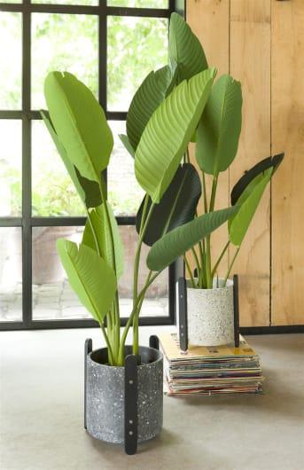Deze plantenpot TERRAZZO van COCO maison is een stoere pot, verkrijgbaar in beige en antraciet. De pot staat op leuke, zwarte pootjes en is ter bescherming voorzien van een extra plastic bakje aan de binnenzijde. In de TERRAZZO serie zijn nog meer mooie woonaccessoires verkrijgbaar.