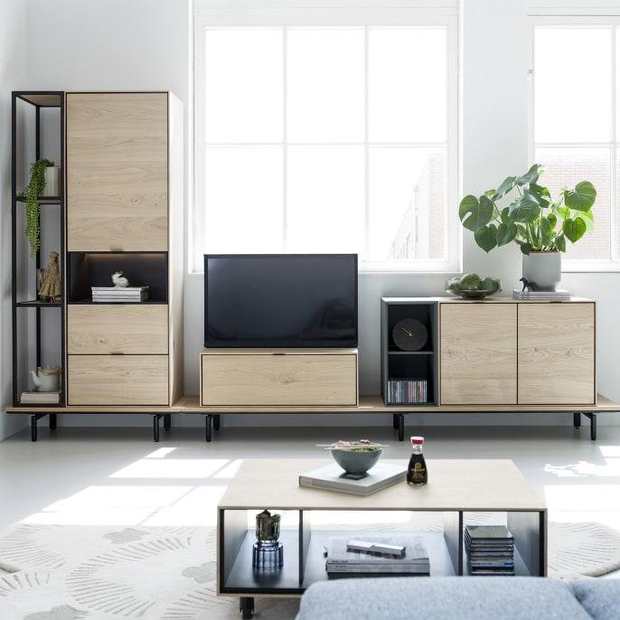 Un meuble pour une télé à déplacer ou à cacher
