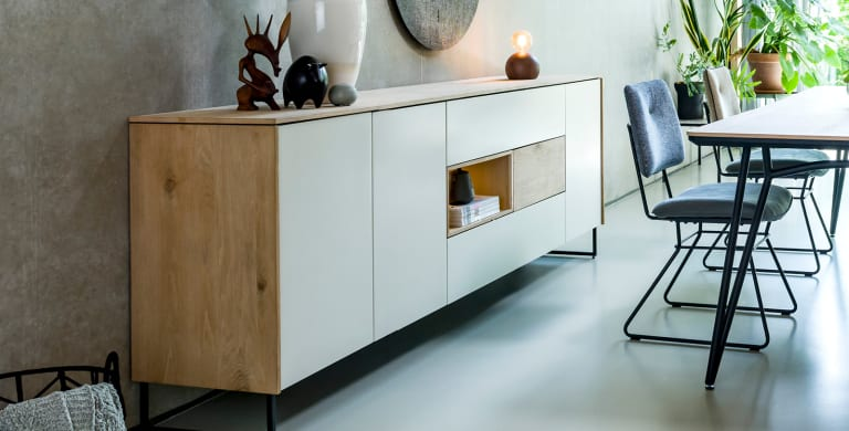 "Minimalist furniture in the ""DARWIN"" collection"